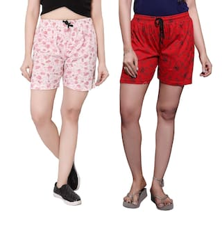 Hosiery Pack 2 Printed Bfly Shorts Women's Cotton of wqtXpOx6