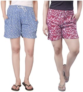 Bfly Women Printed Regular shorts - Multi