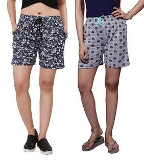 Bfly Women Printed Shorts - Multi