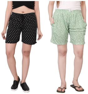 Bfly Women Polka dots Sport shorts - Green