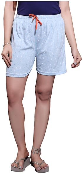 Bfly Women Printed Sport shorts - Blue