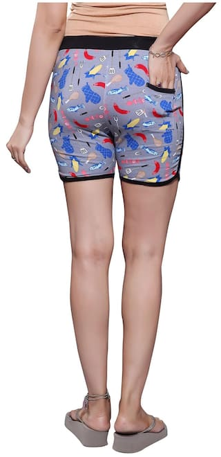 Pack Shorts Cotton 2 Women's Bfly Hosiery Printed of qx0EXqIAUw
