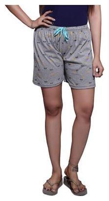 Bfly Women Printed Sport shorts - Grey
