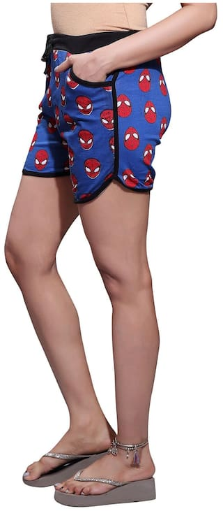 Printed Hosiery Shorts Cotton Bfly Blue Women's ZRqx46fzw