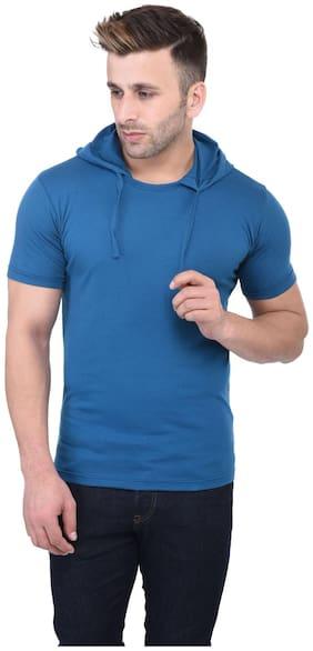 Men Hood Solid T-Shirt