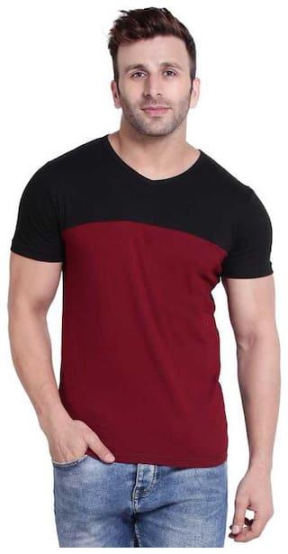 Bi fashion men's V-neck t-shirt