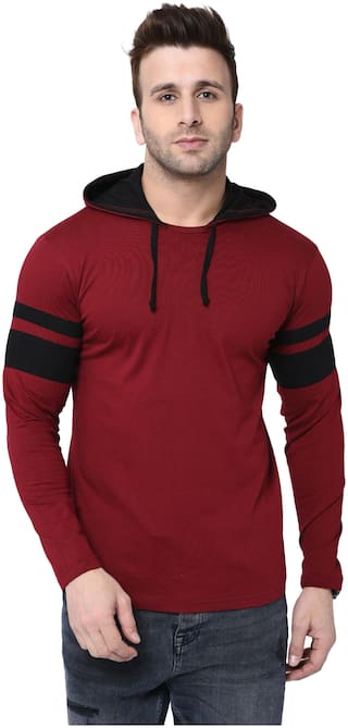 Bi fashion Round Neck Contrast Hood Full Designer Men's T-shirts