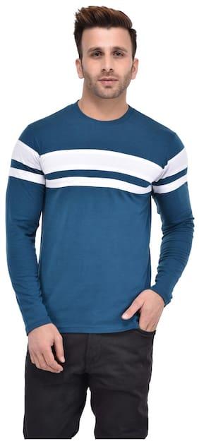 a4fab7431db8e Bi Fashion Men s Round Neck Solid T-Shirt - Blue