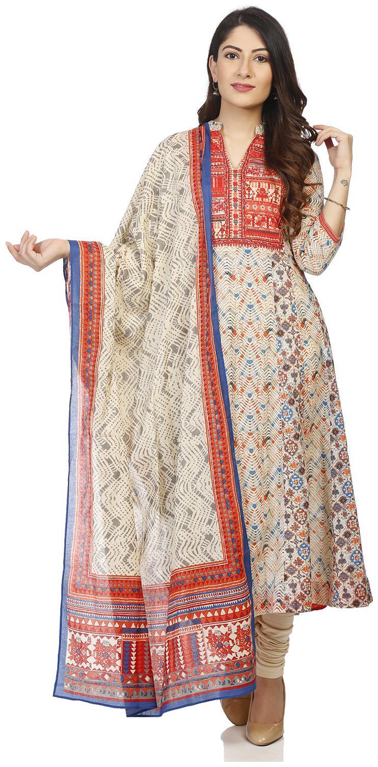 BIBA Womens Teal Cotton Knitted Churidar Size X-Large
