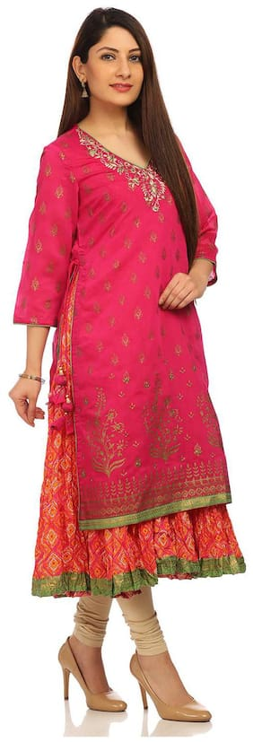 Women Printed Layered Kurti
