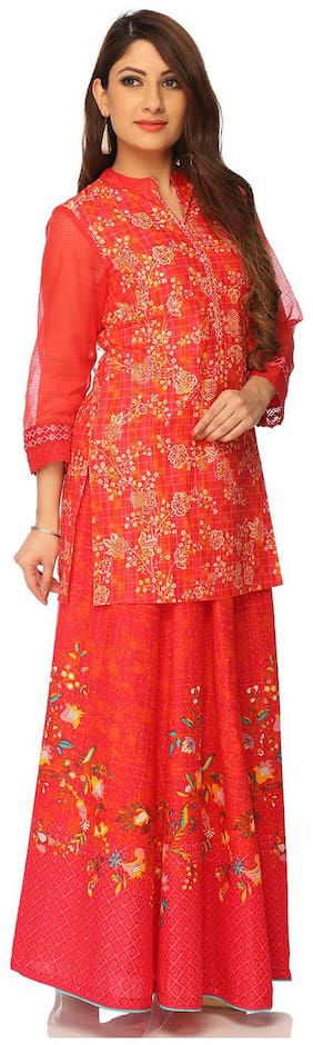 Women Solid Straight Kurti