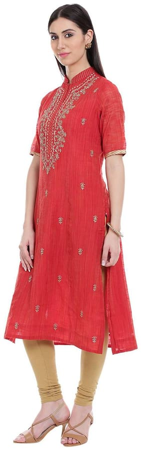 Women Dyed Straight Kurti