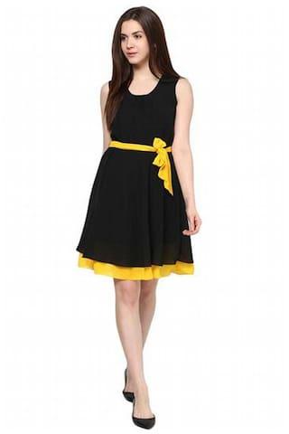 Dress Creation Creation Black Binny Georgette Georgette Black Binny 0OwZgxq