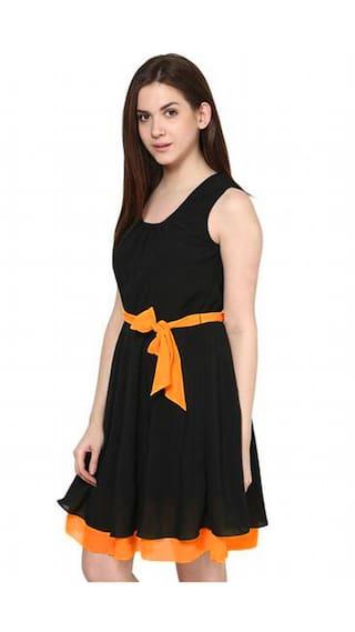 Georgette Creation Dress Black Binny Dress Creation Georgette Creation Dress Black Black Binny Binny Creation Binny Black Georgette BCdwqdU