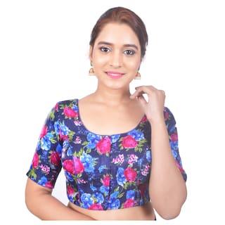 88aae09cec75a ... padded Readymade Saree Blouse Source · Buy Biyu Banglori Silk Blue Rose  Printed Designer Princess Cut