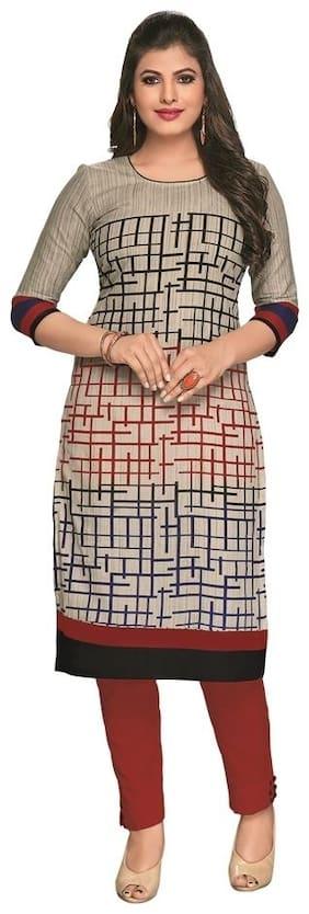Biyu Multicolor Printed Cotton Unstitched Kurti Fabric Material