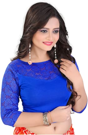 BKD Fashion Readymade Lycra Cotton Blouse For Women Blue color