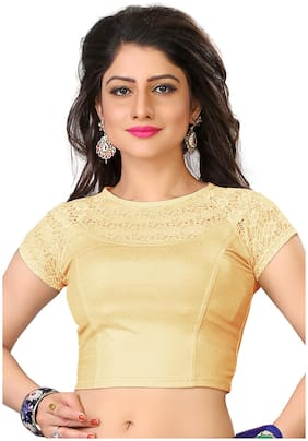 BKD Fashion Readymade Lycra Cotton Blouse For Women Gold color