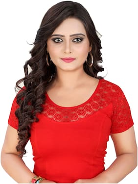 BKD Fashion Readymade Lycra Cotton Blouse For Women Red color