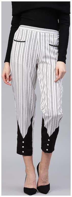 Women Striped Regular Pants