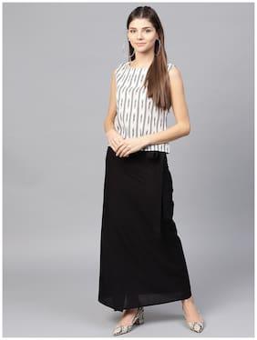 AASI- HOUSE OF NAYO Solid Straight Skirt Mini Skirt - Black