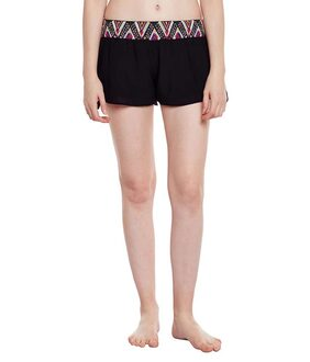 Oxolloxo Women Solid Shorts - Black