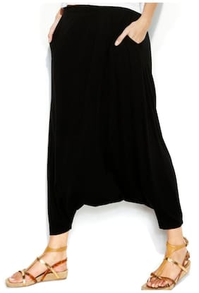 Anvi Black Rayon Harem Pants