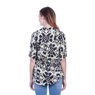 shirt Black Ikat Black tunic print Ikat wYIHpq6