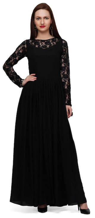 Dress Black Black Lace Lace Dress Black Dress Maxi Maxi Lace Maxi Maxi Lace Black 0xAqIFrAw