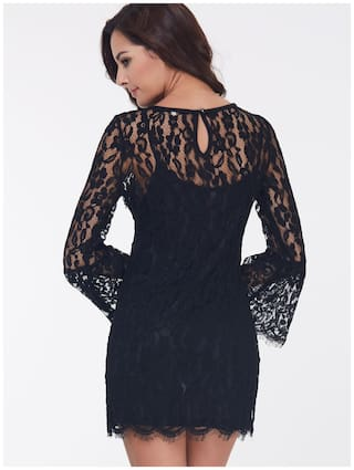 Black Lace Women's Lace Dress Kinikiss up dFqan8dP