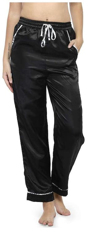 Oxolloxo Women Regular fit Mid rise Solid Jogger - Black