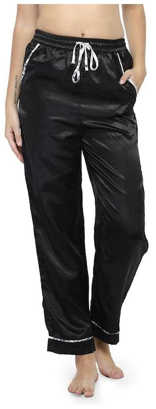 Oxolloxo Women Regular Fit Mid Rise Solid Pants - Black