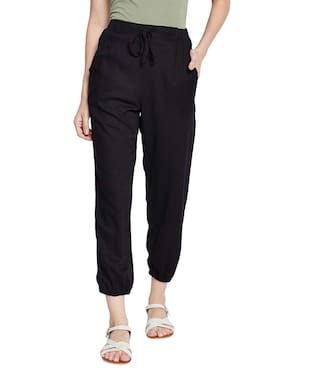 Black Ode Casual Cuffed Pant