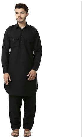 Mehta Apparels Black Pathani Suit