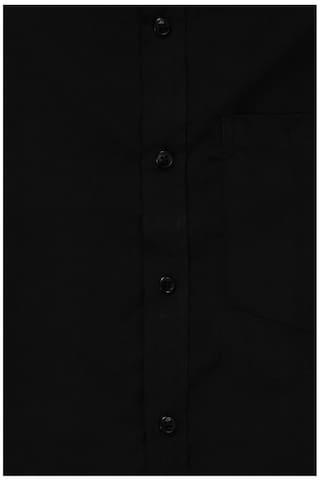 Fit Black Solid Shirt Regular Formal x2za6oJ5XJ