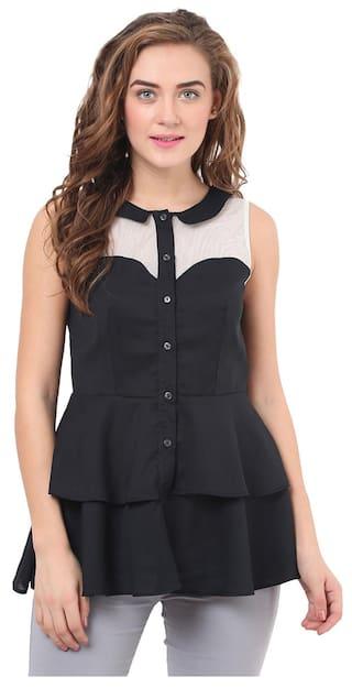 Black & White Peplum Shirt