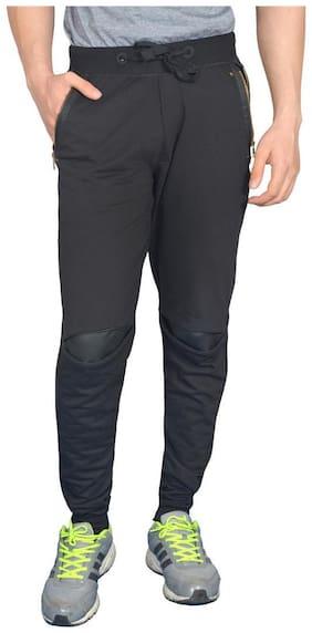 Black Star Zipper Slim Fit Loungewear Lower