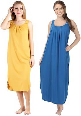 Blazon Yellow & Blue Night Gown