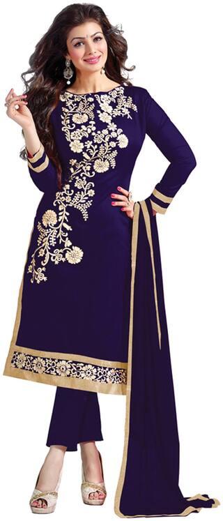 Blissta Blue Chanderi Dress Material
