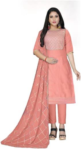 Women Chanderi Dress Material