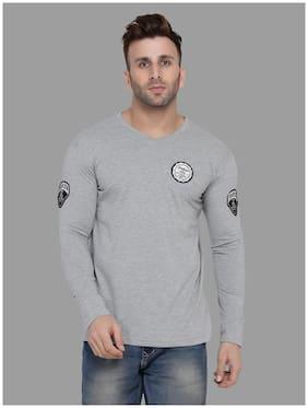 Blisstone Men Cotton Blend T-Shirts Silver