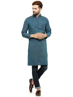 Blue Cotton Long Kurta