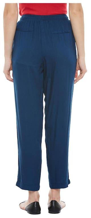 Elasticated Pants Blue Pants Blue Blue Elasticated Elasticated F5qOC5