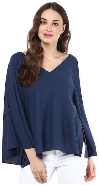 Abiti Bella Women Solid Regular top - Blue