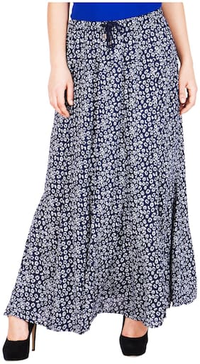 ND&R Floral Flared skirt Maxi Skirt - Blue