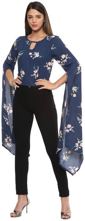 ITRRA Women Solid Shirt style - Blue