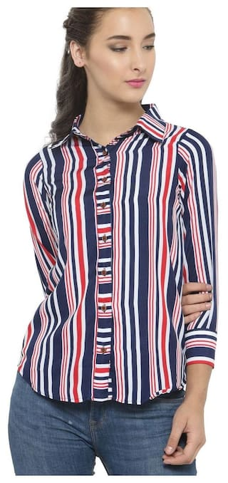 Blue Red Stripes Shirts