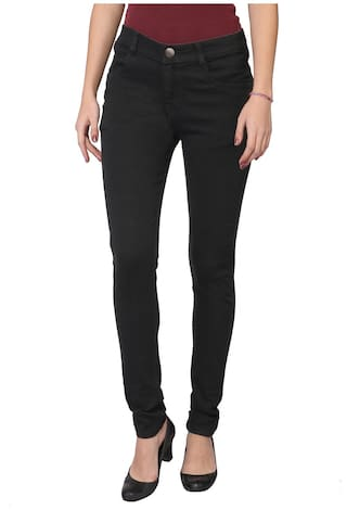 Women For Denim Blugee Black Jeans Casual xwFqIOCX