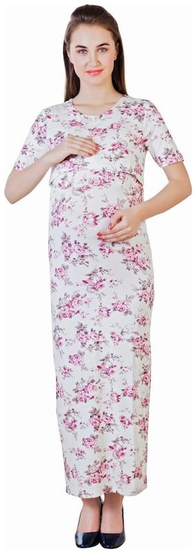 Blush 9 Maternity Double Layer Maxi Maternity and Nursing Dress