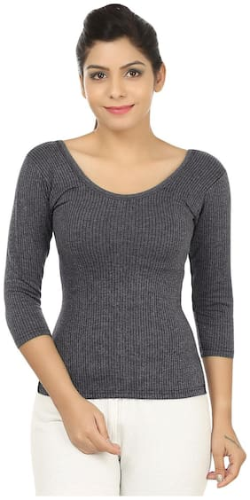 Body Liv Women Blended Thermal top - Grey